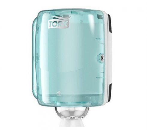 Dispenser Tork Handduk M2 Transp/Turkos