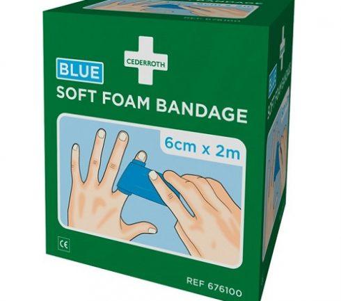 Soft Foam Bandage Blå 6cm x 2m Cederroth 2-pack