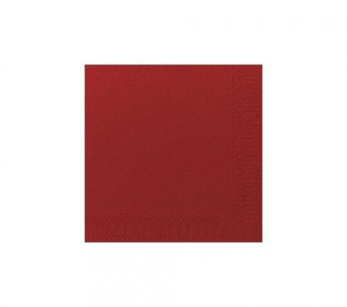 Servett 1-Lag 33x33 cm Röd