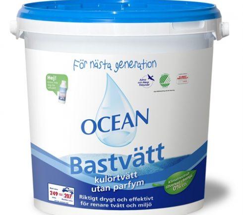 Tvättmedel Ocean Kulör Oparf 6,2kg