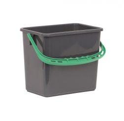 Hink 6L grå grönt handtag