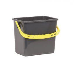 Hink 6L grå gult handtag