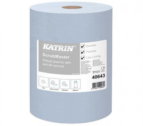Industritork Katrin ScrubMaster Blå 1-lag