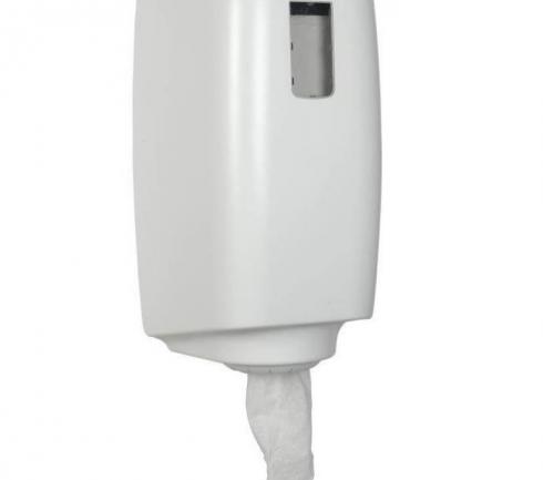 Dispenser torkrulle mini plast vit